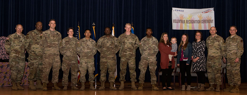 109th Transportation Company receives the Silver Group Presidential Volunteer Service Award