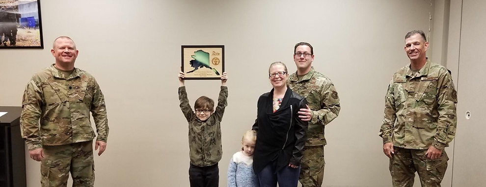 Family Volunteer of the Year: James and Denise Mamone, 673d Security Forces Squadron