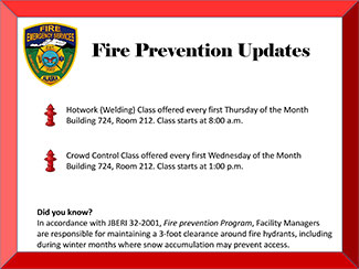 Fire Prevention Calendar